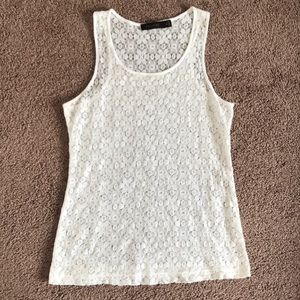 The Limited white lace tank top